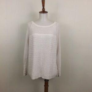 MICHAEL Michael Kors Open Knit Crew Neck Sweater